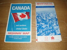 2 vintage Canada Montreal Expo 1967 Highway carte map maps Expo 67