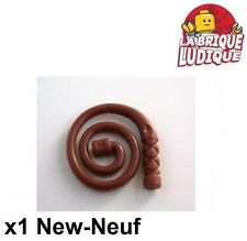 Lego - 1x minifig arme weapon fouet whip coiled marron/reddish brown 61975 NEUF