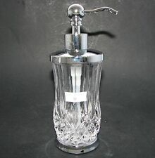 NEW HOTEL BALFOUR CLEAR GLASS DIAMOND CRYSTAL,SILVER PUMP SOAP+LOTION DISPENSER
