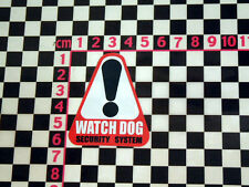 1970's Watch Dog Security Sticker - MG Triumph Ford Jaguar British Leyland Fiat