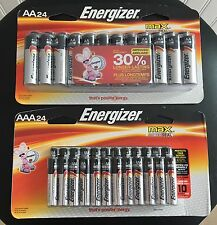 48 PC Combo Pack Energizer Max Alkaline -24 AA & 24 AAA Batteries Bulk  EXP 2026