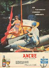Publicité Advertising 1960  ANCRE  bière d'Alsace