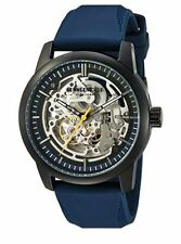 NIB KENNETH COLE 10030791 Mens AUTOMATIC Skeleton Watch -Blue Silicone Strap