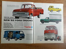 1962 Ford Trucks Ad Pickup Econoline Van Big Six & Super-Duty Diesel