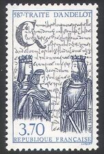 France 1987 Royalty/Treaty of Andelot/People/History/Heritage 1v (n40755)