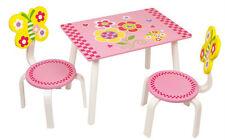 Kinder Tisch Set rosa  Kinderzimmer Kindermöbel Spielzimmer Tisch Stuhl