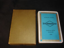 Old Vtg 1941 Marcus Hook Banquet Sunoco Bowling League Deck of Cards Playing