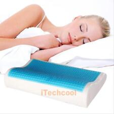 Memory Foam Pillow Orthopedic Head Neck Back Support Gel Bed Cushion+ Free Cover
