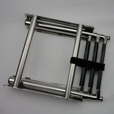 Stainless Steel 3 Steps Under Platform Boat Boarding Telescoping Ladder AABBCC
