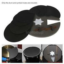 8-Piece Drum Set Silencer Practice Pads Mute with Cymbal Mutes C2Y6