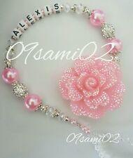 ❤ Bling personalizzata Ragazze Manichino Clip Shamballa & Crystal Fiore Glitter roamay! ❤