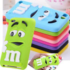 "Cute 3D Letter M Soft Case Cover For Apple Ipod Touch 4 5 iphone 4S 5S 6 4.7"" 6S"
