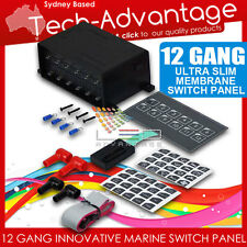 12V 12 GANG MARINE WATERPROOF SWITCH PANEL SLIM TOUCH PANEL- BOAT/CARAVAN/YACHT