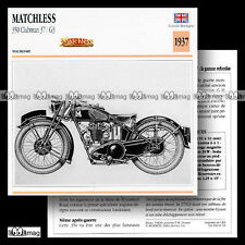 #063.10 MATCHLESS 350 CLUBMAN 37 / G3 1937 Fiche Moto Classic Motorcycle Card