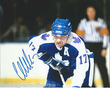 TORONTO MAPLE LEAFS WENDEL CLARK SIGNED 8X10 PHOTO W/COA WENDELL VINTAGE 2