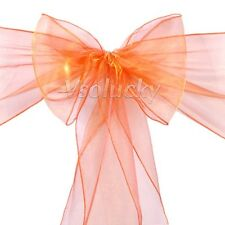 50pcs Organza Sheer Chair Sashes Bows Wedding Party Cover Banquet Decorations