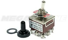 Heavy Duty 20A/125V 3PDT ON-OFF-ON Toggle Switch w/Waterproof Boot. USA SELLER!