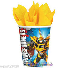 TRANSFORMERS 9oz PAPER CUPS (8) ~ Birthday Party Supplies Beverage Bumblebee
