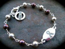 Diabetic Medical Alert bracelet with Swarovski pearls Diabetes Awareness