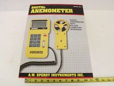 Digital Anemometer w RS-232C-Computer-Interface Sperry SA-7 Air Velocity Wind