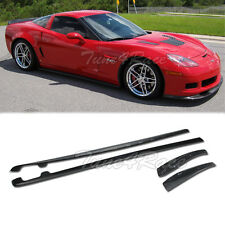 Fits 05-13 Chevrolet Corvette C6 Z06 ZR1 Style FRP Side Skirts Bodykit Duraflex