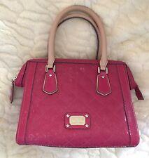 GUESS Juliet Girlfriend Framed Satchel Bag Purse Quilted Signature