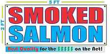 SMOKED SALMON BANNER Sign NEW Larger Size Best Quality for the $$$