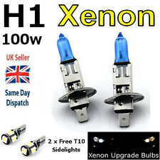 H1 100w SUPER WHITE XENON (448) HeadLight Bulbs 12v +T10 W5W 501 LED 5SMD CANBUS