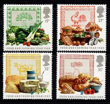 1989 food and farming année ensemble complet SG1428 -1431 non montés mint