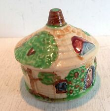 Vintage Ceramic Cottage Condiment Pot with Lid or Sugar Bowl, Japan  (2201)