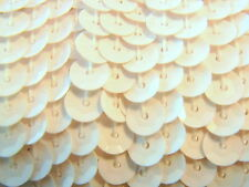5 meters 6mm Quality Faceted Round Sequin Fabric Trim Lining String - Snow White