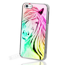Exclusive! Abstract Colourful Horse Print iPhone 5 5S Silver Case Cover S1570 S