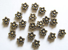 20 Metal Antique Bronze Flower Shape Spacer Beads - 8mm
