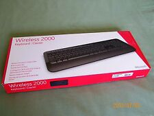 Microsoft Wireless 2000 Clavier Keyboard E6K-00002 Model 1477, 1423