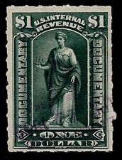 US Scott R173 $1.00 IR Documentary Revenue USED F/VF VLH Rouletted 5.5 1898