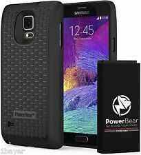 PowerBear Samsung Galaxy Note 4 Cell Phone Extended Battery Cover Protector Case