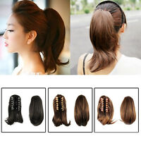 Lady Clip In Ponytail Pony Tail Hair Extension Claw On Hair Straight