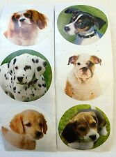 50 Dog Puppy Stickers Party Favors Teacher Supply #2