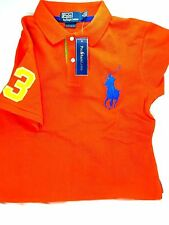 $390 POLO RALPH LAUREN Mens RED BLUE GREEN Big Pony FIT Short Sleeve Shirt SMALL