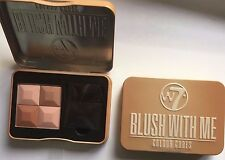 W7 Makeup Blush With Me Colour Cubes Powder Blusher With Brush Cassie Mac