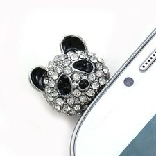 White Black Panda 3.5mm Headphone Earphone Dust Plug for Apple Iphone 5 Galaxy S