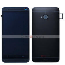 Black Frame+LCD Touch Digitizer Assembly+Back Housing Cover Case For HTC ONE M7