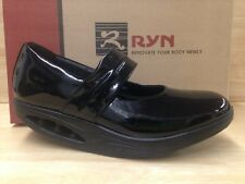 Ryn Rose Woman Black Patent Leather Mary Jane Style Shoes US Size 8.5