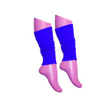 GIRLS TEEN 80'S DANCE PLAIN RIBBED LEG WARMERS WOMEN LEGWARMER FANCY DRESS TUTU