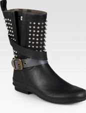 Burberry Rain Boots Women's Sz 39 US9 Or 8.5 Studs Studded Gorgeous Comfortable