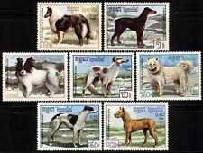 CAMBODGE Kampuchea N°719/725** Chiens , 1987 Dogs CAMBODIA Sc#768-774 MNH