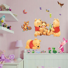Winnie The Pooh Baby Kids Nursery Bedroom Wall Stickers Removable Room Decor New