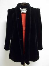 Beautiful Vintage Women's Sz 14 1/2 Black Faux Fur intrigue by Glenoit