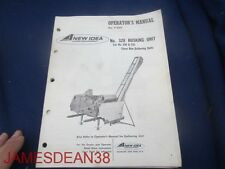 New Idea Operators Manual no 328 husking unit FOR NO 330 331 3 ROW NO P 220 22