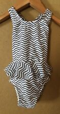 Old Navy Infant Newborn Baby Black White Chevron Tutu One-Piece Swimsuit 3-6 M